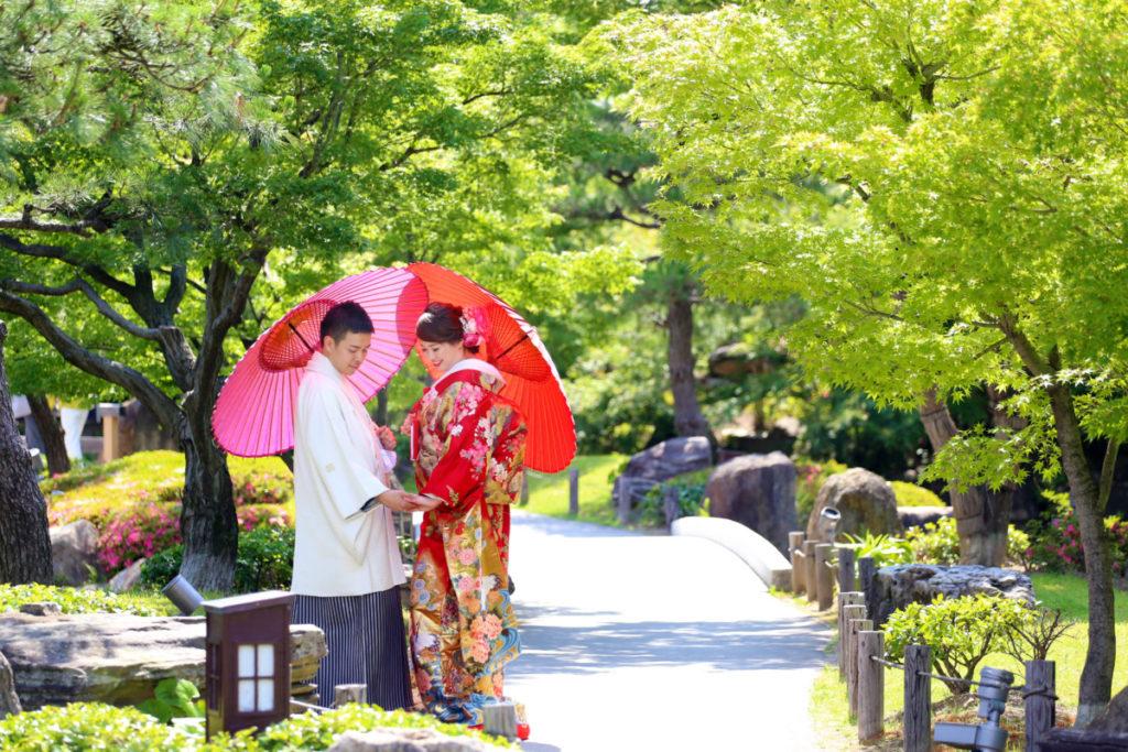 四季折々 桜・紅葉と一緒に撮影☆<br /> 前撮り・後撮りとしてもオススメです!
